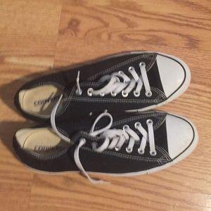 Black converse low